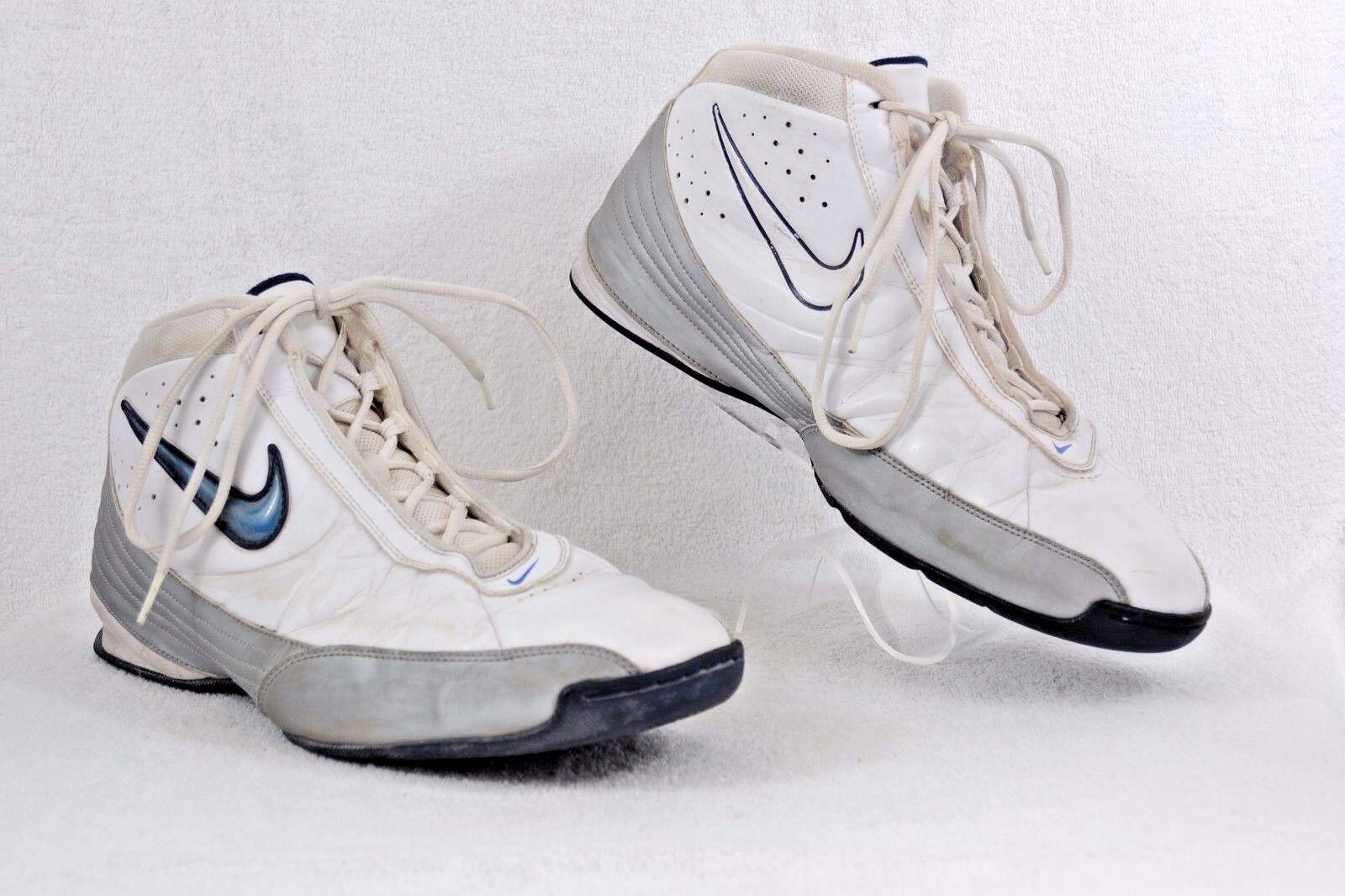 Nike Vintage AIR AMP BB 324798-141 White & Silver Mens 13M EUC G4