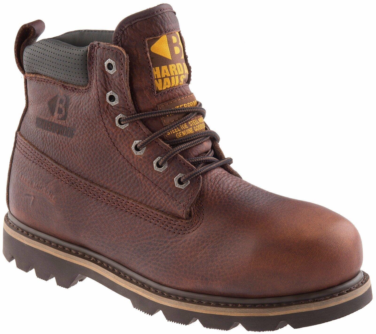 Buckler B 750 smwp Impermeable Seguridad botas De Trabajo Cuero Marrón Oscuro (Tallas 4-13)