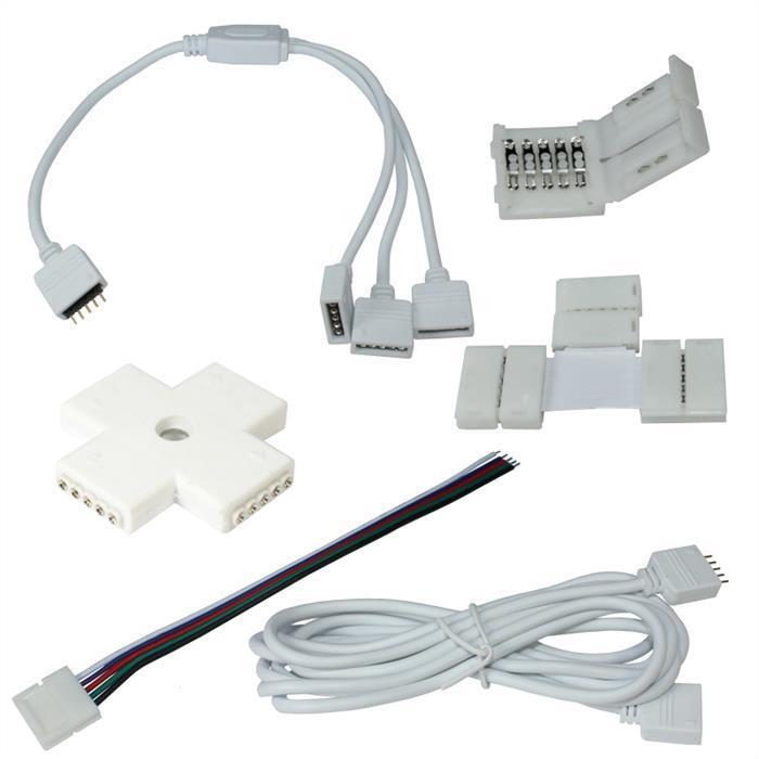 Accessoires pour RGBW RGB+W LED strip - Connecteurs, Distributeurs, Extensions