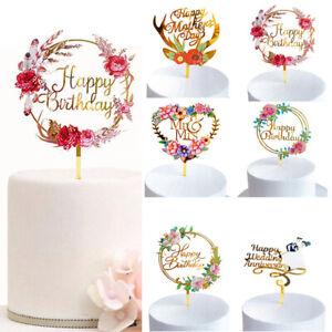 Happy Birthday Acrylic Topper Birthday Party Cake DecorationXq#@W