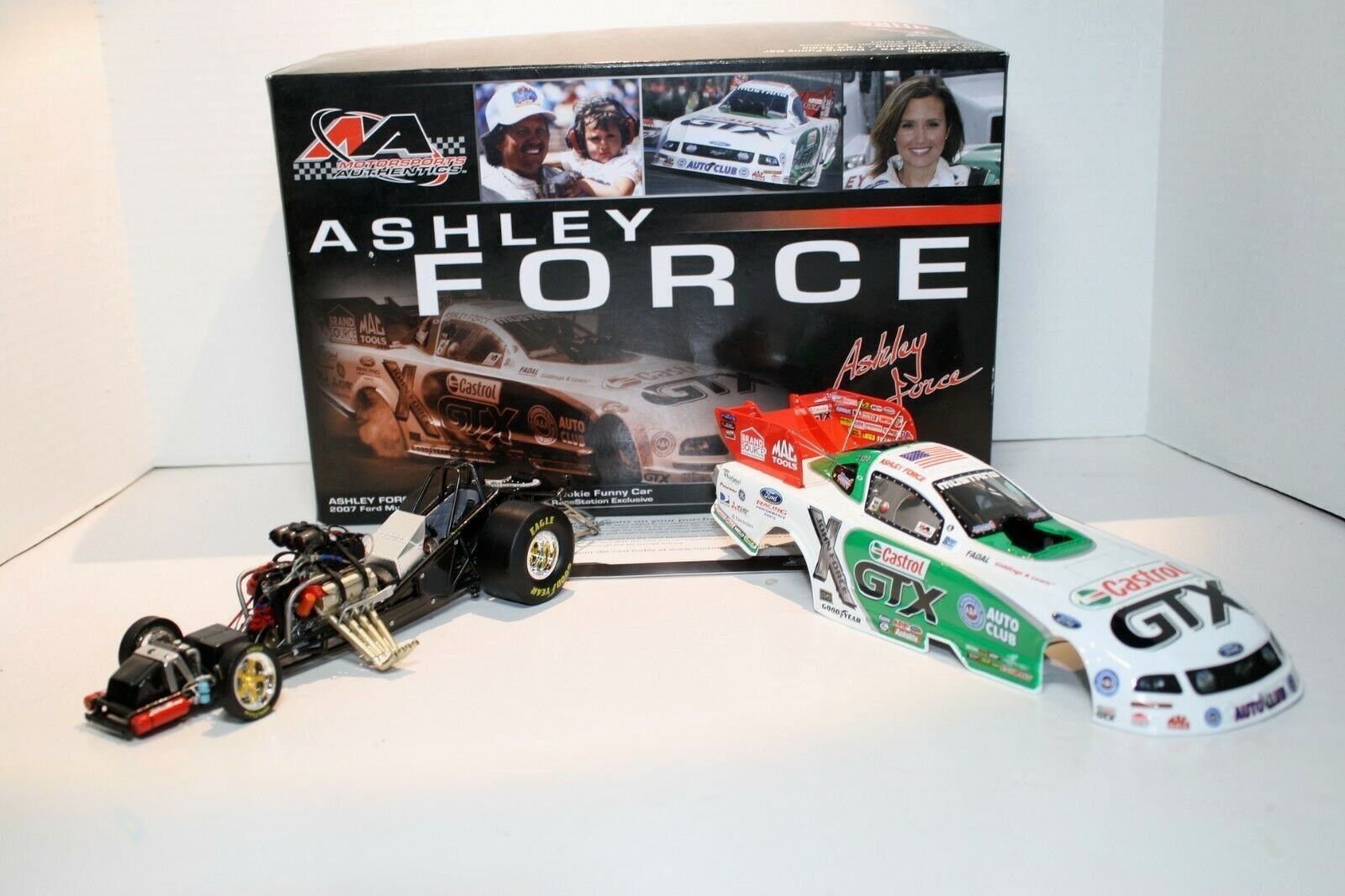 Ashley Force 1 24 NHRA Mustang Rookie Funny Car Castrol GTX 2007