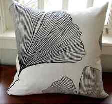 """Handmade 20"""" Pillow case made from Marimekko Ginkgo satin cotton fabric, Finland"""