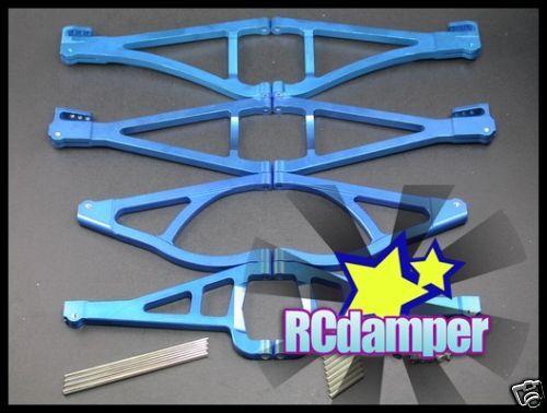 ALUMINUM FRONT+REAR UP LOWER SUSPENSION ARM B TRAXXAS 1/10 REVO 2.5 3.3 E-REVO
