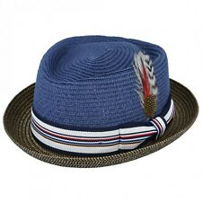 3b084bb07b72f5 item 2 UNISEX Crushable Straw Summer Pork Pie Trilby Hat With Removable  Feather -UNISEX Crushable Straw Summer Pork Pie Trilby Hat With Removable  Feather