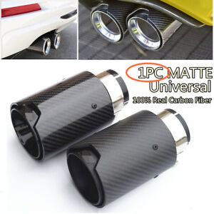 Matte-Black-2-5-039-039-in-3-5-039-039-out-Car-100-Carbon-Fiber-Exhaust-End-Tips-for-BMW