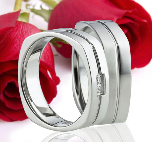 2 Ringe Eheringe Trauringe Verlobungsringe Partnerringe Gravur GRATIS TE1122