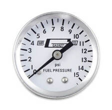 "Mr Gasket Fuel Pressure Gauge 1561 Fuel Pressure 0 to 15 psi 1-1//2/"" Full Sweep"