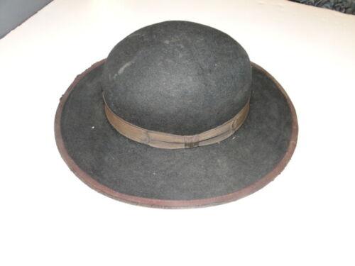 Vintage Black Fedora Hat  Cowboy Western Hat  Sz 6