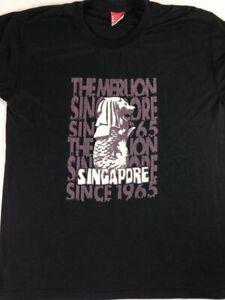 The Merlion Singapore Shirt Adult SZ M/L Soft Black Quality Park Mythical Lion