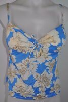 Victoria's Secret Tankini Top Tie Front Push Up Forever Sexy Blue Floral S M L