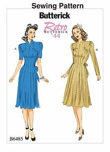 Crafts Sewing Patterns Butterick B6374 Retro '44 PATTERN Misses' Dress Sizes 6-22 New