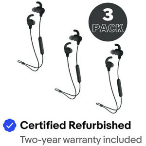 Skullcany Jib XT Active In-Ear Headphones- 3 PACK- Black (Refurbished)