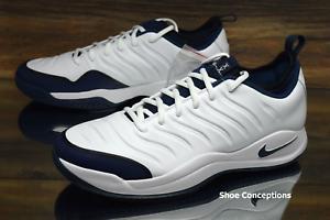 Nike Air Oscillate XX White Blue 918195-104 Tennis Shoes Uomo Size 11.5, 12.5