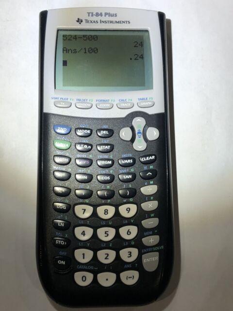TI-84 Plus Graphing Calculator Texas Instruments TI84 +