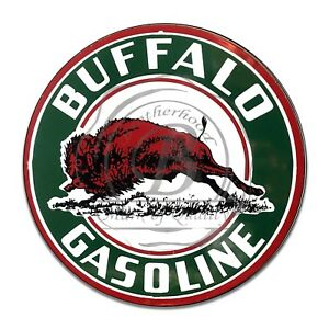 Vintage-Design-Sign-Metal-Decor-Gas-and-Oil-Sign-Buffalo-Oil-and-Gasoline