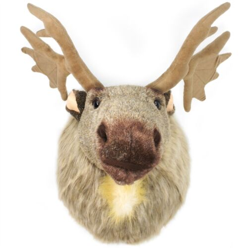 With Antlers Muscovy the Moose24 Inch Plush Head Wall Mount Bust