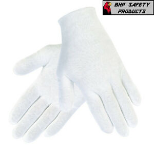 Provided White Inspection Cotton Lisle 12 Pair 1dz Work Gloves Coins Jewelry Lightweight Coins & Paper Money Gloves