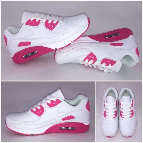 PINK New Style AIR Sportschuhe Sneakers WEISS