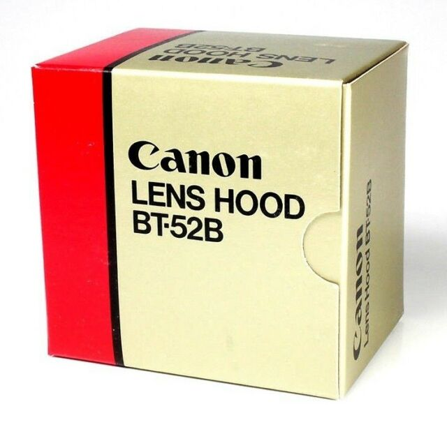 CANON Camera Lens Hood BT-52B Black New Boxed Unused Fits New FD 75-200mm 4.5