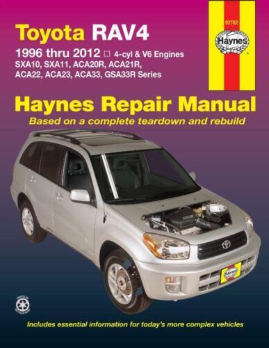 Toyota RAV4 1996-2012 4-Cylinder /& V6 Engines Haynes Workshop Manual Service