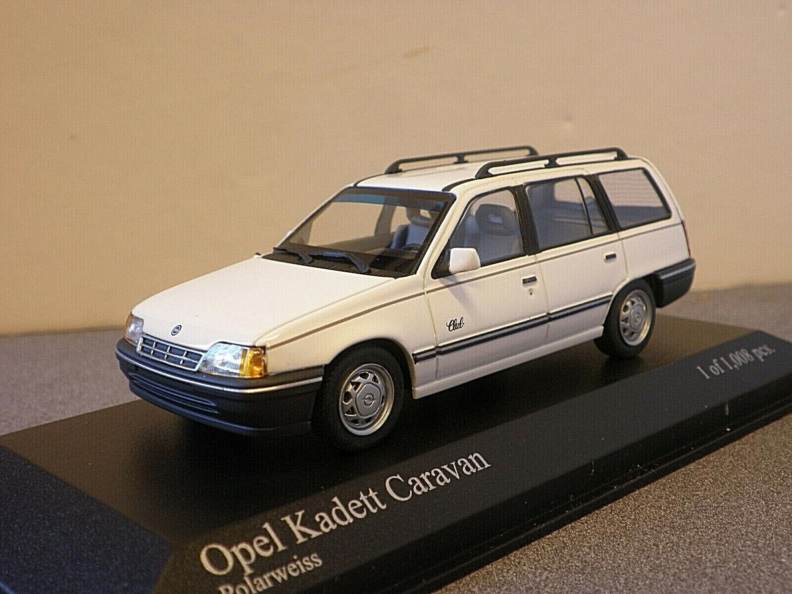 Mercancía de alta calidad y servicio conveniente y honesto. Minichamps 400 045911 OPEL KADETT Vauxhall Astra Estate en blancoo blancoo blancoo 1989 1 43rd  tienda de venta en línea