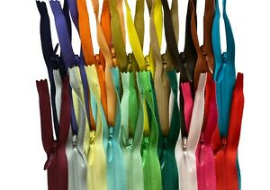 YKK-Invisible-Zippers-Nylon-Coil-Conceal-Zippers-Sewing-Craft-20-Random-Colors