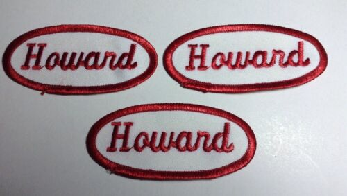 HOWARD EMBROIDERED SEW ON NAME PATCH LOT OF 3 ~ NAME TAG