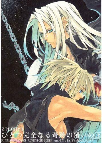 "Final Fantasy VII YAOI Doujinshi /"" Hitotsu Kanzennaru Oo. /"" Cloud Sephiroth FF7"