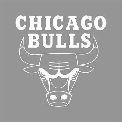 "22"" Chicago Bulls NBA Team Logo 1Color Vinyl Decal Sticker Car Window Wall"