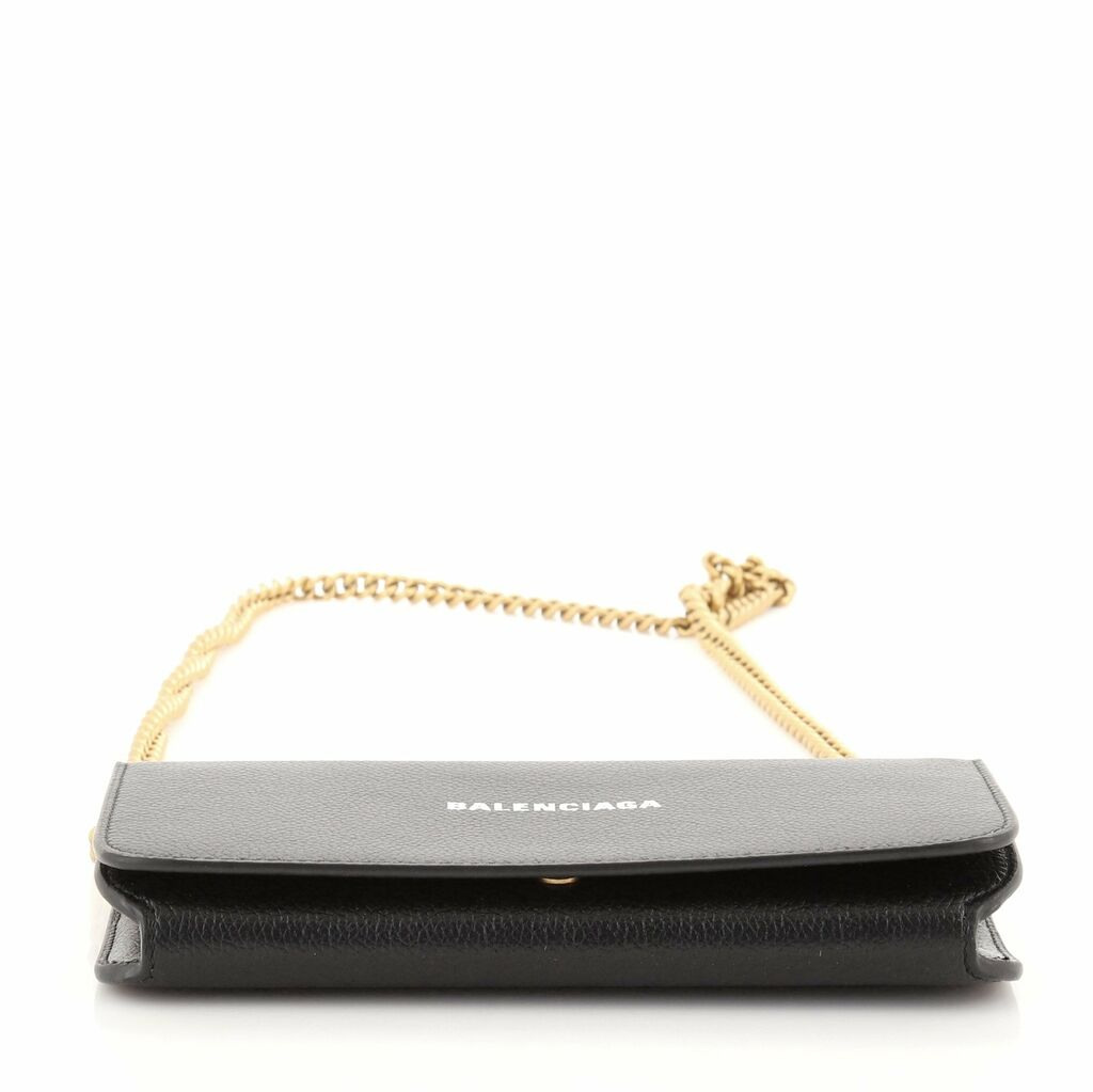 Balenciaga Everyday Continental Wallet on Chain Leather  | eBay