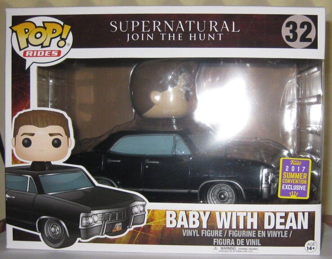 barato FUNKO RIDES bebé bebé bebé con Dean Pop Sdcc 2018 Exclusive POP  32  Nuevo  tienda de bajo costo