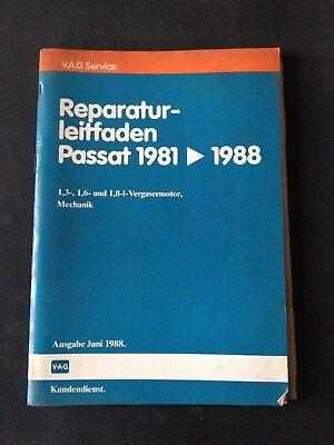Reparaturleitfaden Vw Passat 1,3 1,6 1,8 Liter Vergasermotor Mechanik 1981-88