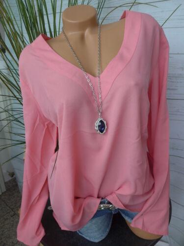 562 Lachs Ton NEU 34 bis 46 Vokuhila Heine B.C Chiffon Bluse Shirt Gr
