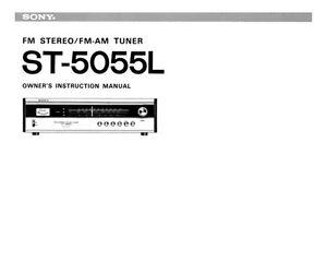 sony st 5055l tuner owners manual ebay rh ebay co uk owners manual sony xbr49x900e owners manual sony 7aii