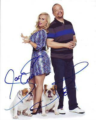 Ice T & Coco Signed Autographed Ice Loves Coco W/ Spartacus & Maximus Photo High Resilience Entertainment Memorabilia Television