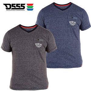 Mens Duke Big Plus King Size V-Neck Summer Short Sleeve Marl Effect T-Shirt Top