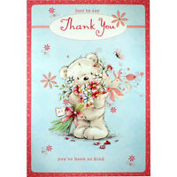 THANK YOU CARD ~ Just to Say Thank You ~ Lovely TEDDY BEAR Greetings Card