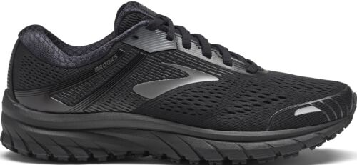 Brooks Adrenaline GTS 18 Womens Running Shoes Black Structured Support Trainers