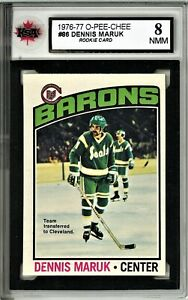 1976-77-OPC-Hockey-86-Dennis-Maruk-RC-Graded-8-0-NMM-062319-43