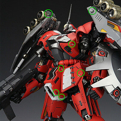 Detail Up Add On Metal Etch For All Scale Gundam & Weapon metal parts Multi-Use