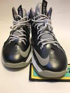 ce7285f43676 NIKE LEBRON X 10 Prism Black High Top Basketball Sneakers 541100-004 ...