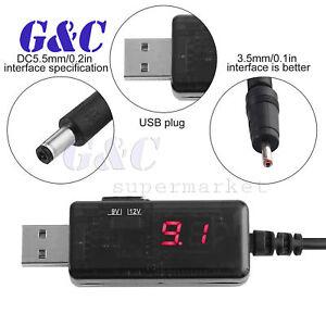 USB Booster Cavo 5V Step Up a 9V Convertitore adattatore 1A Step-Up DC DC