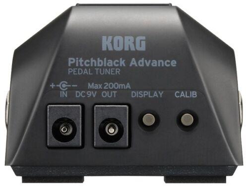 New Korg Pitchblack Advance Guitar Pedal Tuner FREE Hosa Cables Advanced