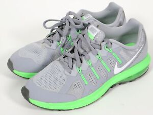 0127b08e98a7a Nike Boys Air Max Dynasty GS Youth Y7 Running Shoes Wolf Gray green ...