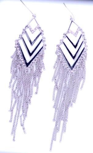 12cm argent de style égyptien pompon de couleur boucles d/'oreilles chandelier