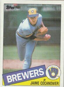 FREE-SHIPPING-MINT-1985-Topps-576-Jamie-Cocanower-Brewers-PLUS-BONUS-CARDS