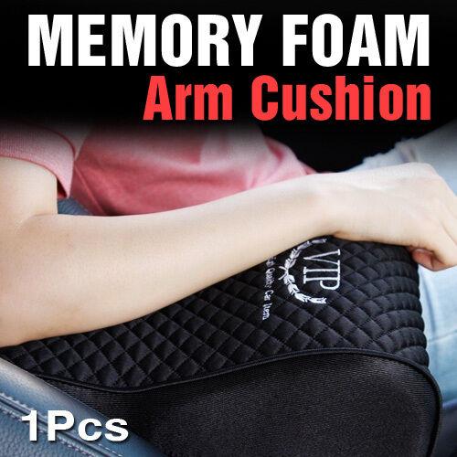 Memory Foam Armrest Center Console Cushion Black 1Pcs For KIA 2014-2018 Soul