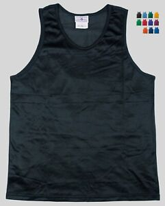 Nylon-Mini-Mesh-Tank-Top-Singlet-by-Teamwork-Men-039-s-Large-14-Colors