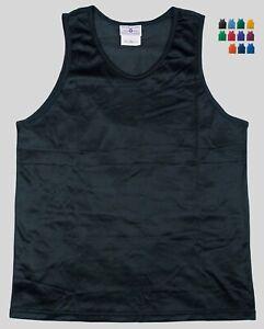 Nylon-Mini-Mesh-Tank-Top-Singlet-by-Teamwork-Men-039-s-2XL-14-Colors
