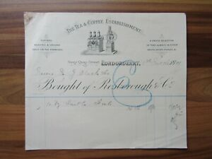 Old-antique-document-receipt-Londonderry-Irish-Tea-and-Coffee-establishmen